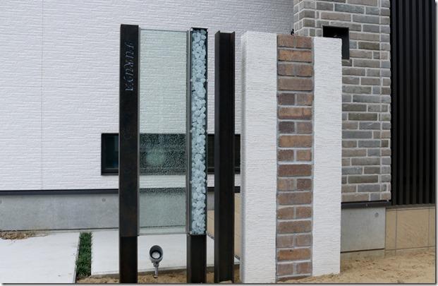 プレミアムH鋼門柱+ジュエルグラス