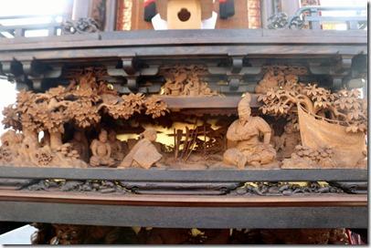 成岩の山車の彫刻