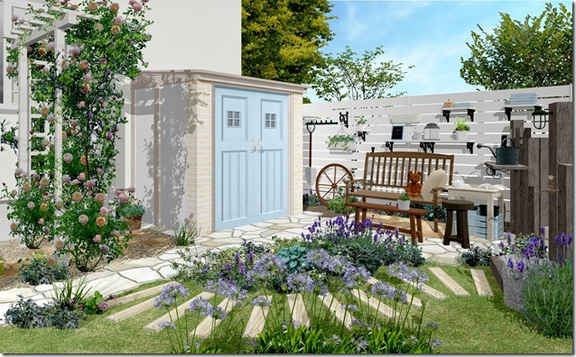 Deas Shed Canna French chic Shabby blue