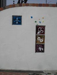 2008 ガラスブロックサインの門柱 4