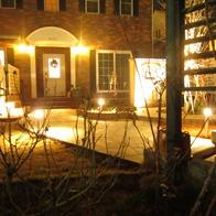 リフォームでライトアップされた庭