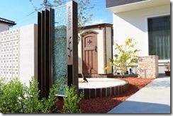 おしゃれなデザイン門柱