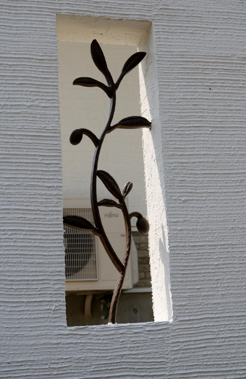 塗り壁のスリット