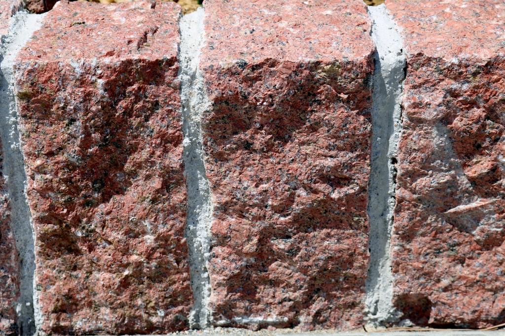 花壇のミカゲ石