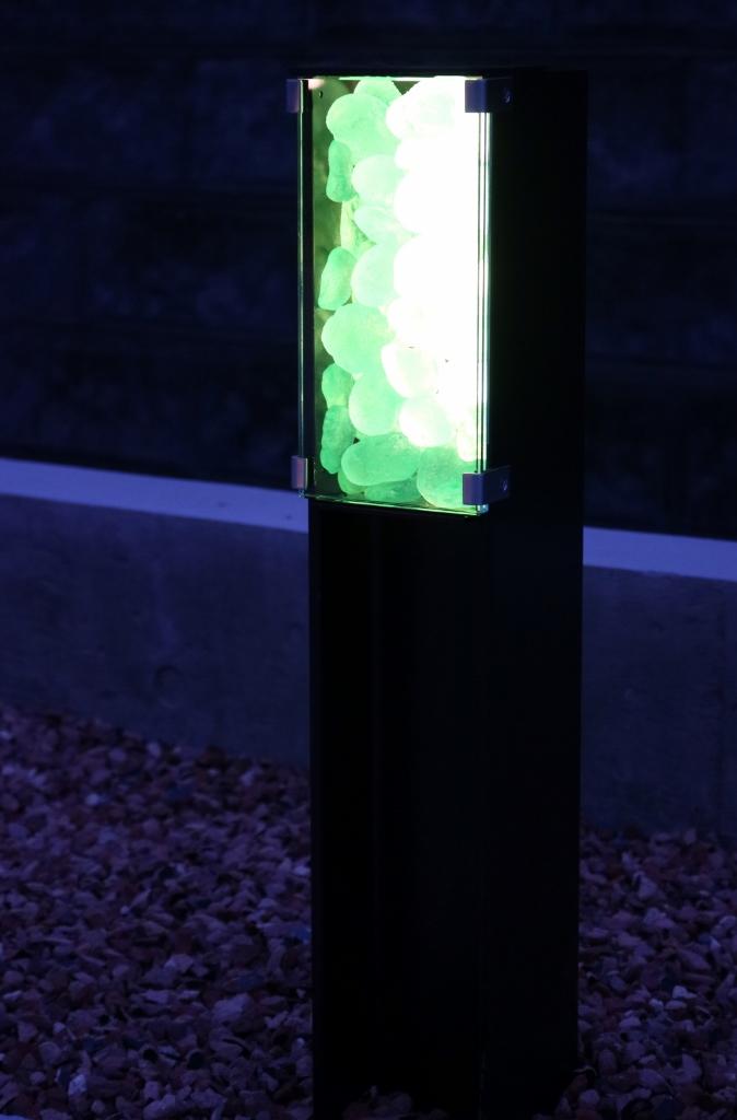 H鋼照明の点灯