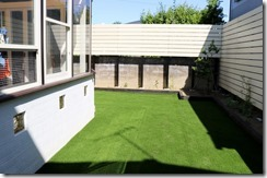 庭に手入れの楽な人工芝生敷きこみ 648