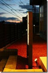 プレミアムH鋼門柱夜のライトアップ
