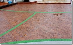 駐車場の床スタンプコンクリート木目・目地クリスタルグレイン 018