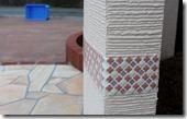 門柱のタイル貼り032