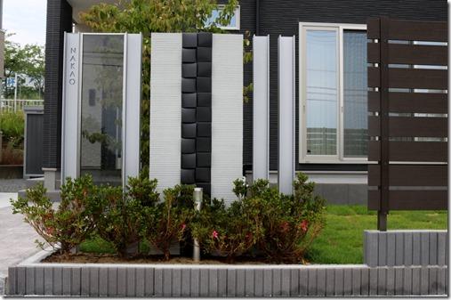プレミアムオリジナルH鋼門柱+ジュエルグラス