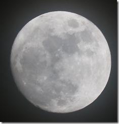 イブの夜の月
