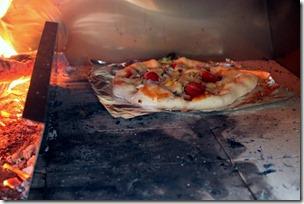 Pizza in the kiln