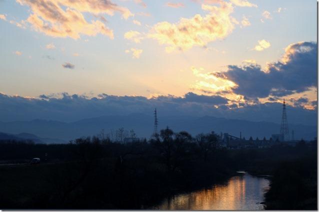 夕暮れの落合橋