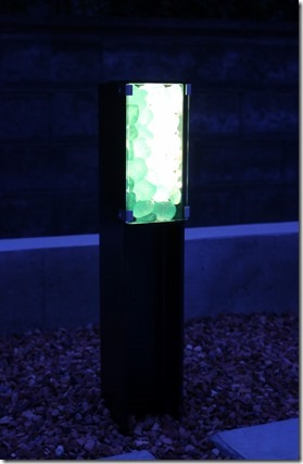 リコストーンを使ったH鋼材照明を点灯