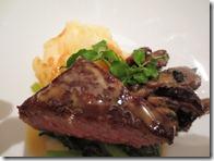 佐賀県産黒毛和牛ロース肉のステーキわさび添え048