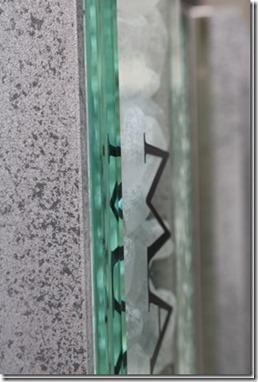 プレミア門柱に合わせ硝子サイン。