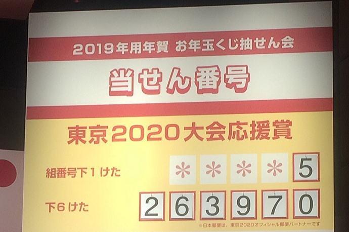 2020 年賀状 お年玉