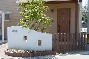 塗り壁門柱 1-2