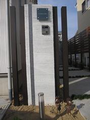 シンプルモダン門柱787