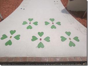 クリスタルアートで花模様に施工した現場