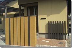 和風の塗り壁門柱