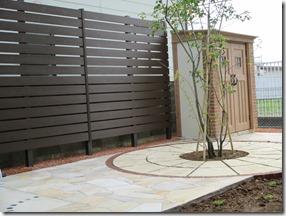 プライベート空間の庭にサークル設置