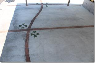駐車場の床