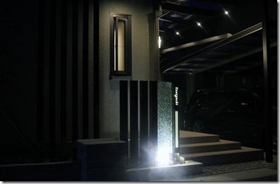 門柱のライトアップ