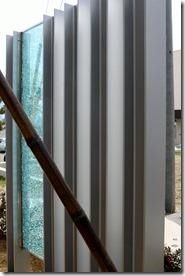 オリジナルH鋼門柱+ジュエルグラス後ろ側