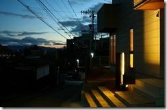 プレミアム門柱現場の夕暮れと時32