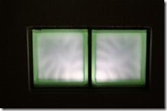 ガラスブロックミストグリーン壁埋め込み
