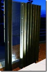 プレミアムH鋼門柱夜のライトアップ6025