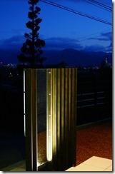 プレミアムH鋼門柱夜のライトアップ6028