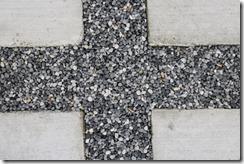 駐車場の目地樹脂舗装自然石小砂利雅